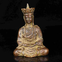 China Old Collectible Hand - Carved Red Copper Tangseng Statue Desktop Items