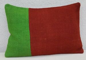 Green and red color decorative couch pillows, 14'' X 20'' Vintage Tribal Pillow