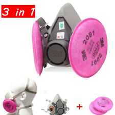3 in 1 Dust Mask Half face Respirator Spray Painting For 3M 6200 2901 Filters