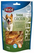 Pet Dog Puppy Treats Snack Food Banana Chicken - Gluten Free 100 g by TRIXIE