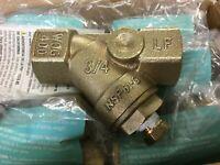 "LOT OF 4 WATTS Genuine LF777SI Bronze Wye Strainer 3/4"" LEAD FREE NEW!"