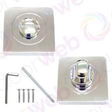 DESIGNER BATHROOM WC LOCK Electra Thumb Door Lock Turn&Release Polished Crome