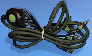 Monster Official Original Xbox AV Component Cable Cord Black/Green - AWESOME