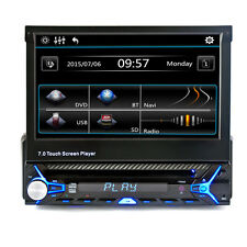 """Bluetooth 7"""" TV Touch Screen DVD MP3 USB SD MP4 IPOD AUX Car Stereo Flip Out"""