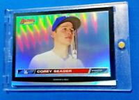 Corey Seager RC 2015 Bowman Hi Def 3-D Rookie Refractor Dodgers + Magnet Case