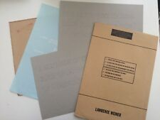 Lawrence Weiner oeuvre multiple 2 planches pochoirs + enveloppe originale 1987