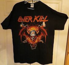 Overkill Canada Toronto Ottawa Quebec City 2014 Official Tour Shirt New Size M