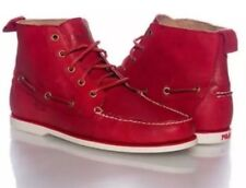 Polo Ralph Lauren Men's Barrott Red Leather Casual Ankle Boots Size 11