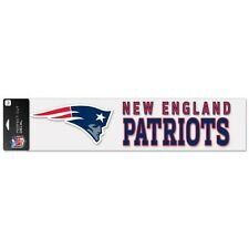 New England Patriots Car Window Decal 4 x 16 Strip Color