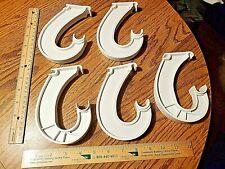 Lot of 5 ClosetMaid Rod Bar Support Hanger J Bracket Hook Closet Organization