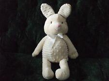 "16"" Hallmark beige bunny/rabbit fabric darted and striped alternating"