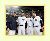 Core 4 Four NY Yankee 8x10 Dbl Matted Photo 5x7 Print  Jeter Rivera Pettitte