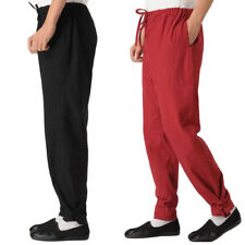 Linen Kung Fu Tai Chi Pants Martial Arts Trousers Bruce Lee Wingchun Uniform Hot