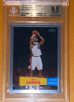 POP 14💎2007 LeBron James TOPPS CHROME 1957-58 VARIATIONS 23 BGS 9.5 PSA lakers