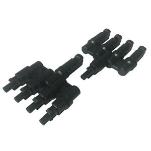 1 Pair Male Female 4 to 1 Solar Panel Connector Cable Splitter Adapter
