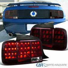 05-09 Ford Mustang Smoke Red Sequential LED Tail Lights Rear Brake Lamps Pair