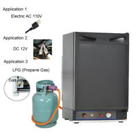 Smad 1.5 Cu ft 3-Way Propane Gas Fridge DC 12V Gas RV Truck Camper Refrigerator
