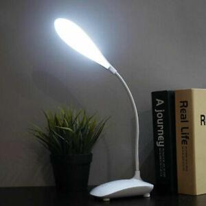 LED Dimmable Reading Light Desk Table Lamp Bedside Power Bank Phone Pen Holder