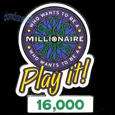 Disney Pin *Who Wants to Be a Millionaire* Play it! 16,000 Points (Prize Gift)!