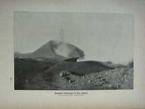 1903 NATURAL HISTORY GERMAN PRINT STNA SICILY VOLVANIC