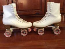Chicago Women's Classic Roller Skates - White Quad Rink Skates Size 8 US LADIES