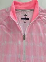 NWT Adidas Womens Golf Tennis Pullover Sweater Top Pink White S M L XL Light