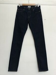 JUST JEANS MENS DARK BLUE DENIM SKINNY STRAIGHT STRETCH JEANS S 30 NEW RRP$79.95