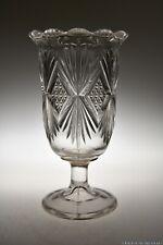 c. 1894 MELROSE by Bryce, Higbee & Co CRYSTAL Celery Vase