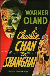 Charlie Chan In Shanghai 1935 Vintage Poster Print Retro Movie Wall Decor