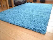 Tappeto Shaggy Blu Color Foglia Di Tè 120 x 170 cm di spessore 5 cm di altezza Pile Qualità Carpet Rug
