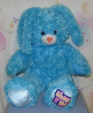 Build A Bear Disney Shake It Up Bunny Blue Teal Sparkly Plush 18""