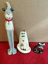 New Listing Mixed Lot of 3 Cat and Dog Figurines ~ Nos