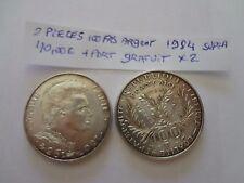 100frs argent  prix pour 1 piece -2 pieces 1984 marie curie