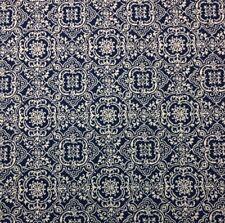"""BALLARD DESIGNS FLORENCE BLUE SUNBRELLA MEDALLION OUTDOOR INDOOR FABRIC BTY 54""""W"""