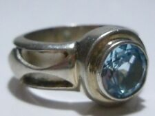 AWESOME LORI BONN STERLING SILVER TOPAZ WOMENS RING BAND SIZE 7.5