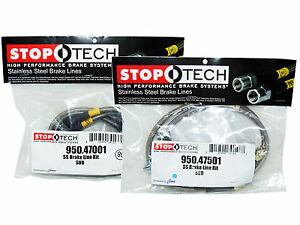 Stoptech Stainless Steel Braided Brake Lines (Front & Rear Set / 47001+47501)