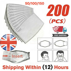 1Face Mask PM2.5 Activated Carbon Filter Replace Breath Insert Mask Filter - UK