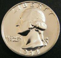 1964 Washington 90% Silver Quarter Gem Proof US Mint Coin