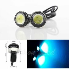 1 Pair Ice Blue COB LED Eagle Eye Car Daytime Running DRL Tail/Head Light Backup