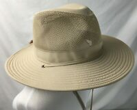 Brimmed Sun Protection Hat Khaki Tan ONE SIZE Hiking Fishing Beach Boonies
