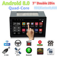 7'' Double 2Din Android 8.0 4G WiFi Car Radio Stereo GPS Navi Multimedia Player