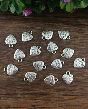 Wholesale 20pcs Tibet silver Heart LOVE Charm Pendant beaded Jewelry Findings