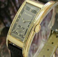 🔥Vintage mens 1941 Bulova Curvex 48MM LONG AMAZING MINTY Art Deco Tank Watch NR