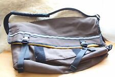 Yellow and Brown Chrome Messenger Bag