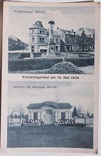 27384 AK Elsterwerda Kreis Kriegerfest 10.5.1925 Denkmal und Tor der Gefallenen