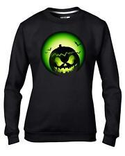 Green Halloween Pumpkin Women's Sweatshirt Jumper Size Small