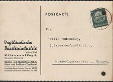 WILDENAU, Postkarte 1939, Vogtländische Bürstenindustrie Albert Wolf
