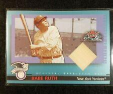2002 Fleer Fall Classics Babe Ruth Game Used Bat Relic Card #/25