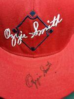 OZZIE SMITH HOF Signed Autographed AJD Custom CARDINALS Snapback OZZIE SMITH Hat