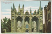 Cambridgeshire postcard - Peterborough Cathedral, West Front